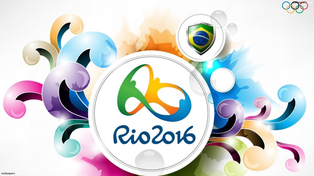 Official logo of the rio 2016 olympics