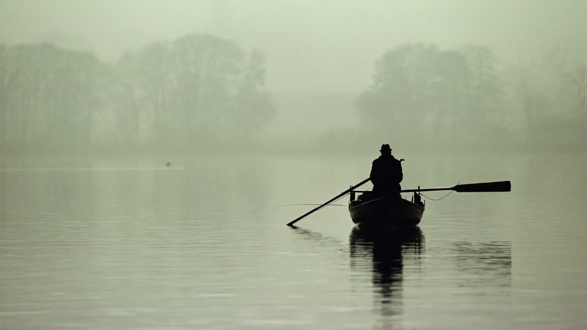 Lonely-man-boat