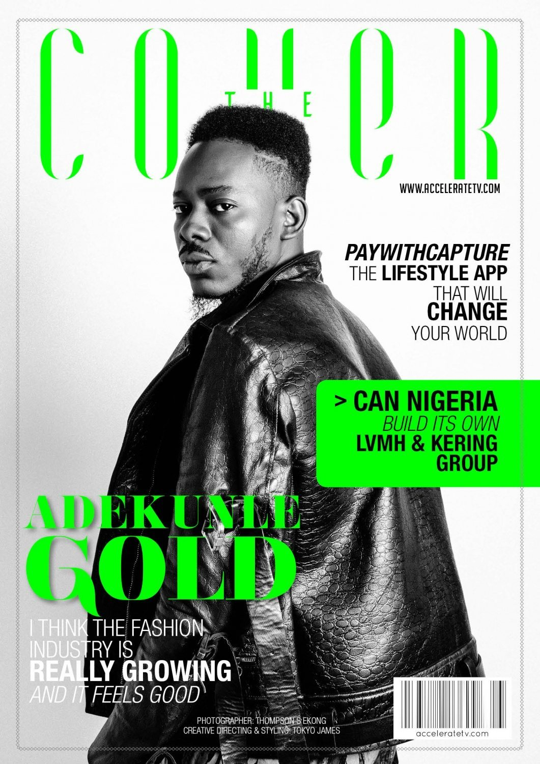 Adekunle Gold on The Cover for Accelerate