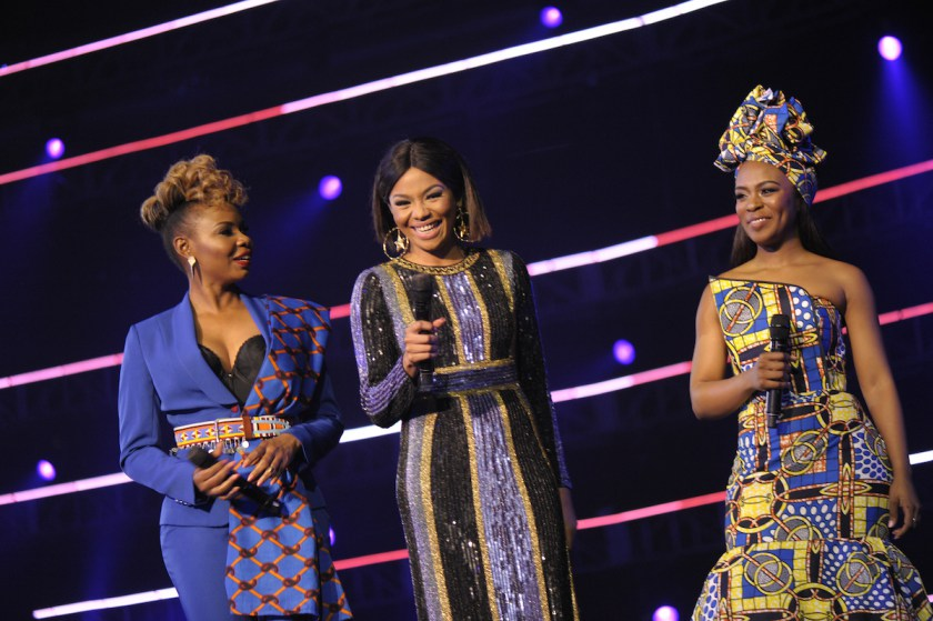 (L to R The hosts Yemi, Bonang and Nomzamo during the MAMA 2016, in Johannesburg, South Africa on October 22nd, 2016