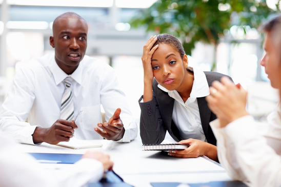 frustrated people at work business